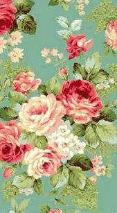 Vintage Pink Roses on Green Wallpaper Case-Mate iPhone Case