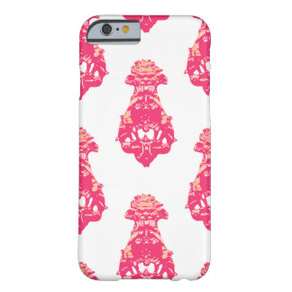 Vintage pink/salmon colour background barely there iPhone 6 case