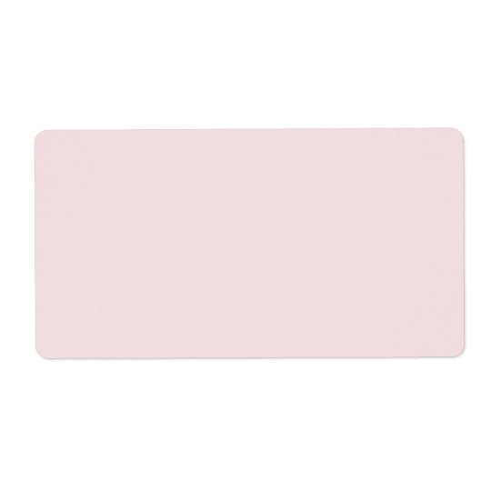Vintage Pink Template Blank Shipping Label