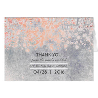 Vintage Pink Wedding Thank You Card