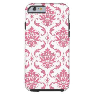 Vintage Pink White Damask Girly iPhone 6 case