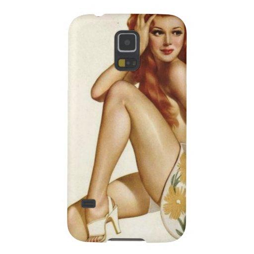Vintage Pinup Girl Original Coloring 1 Galaxy Nexus Case