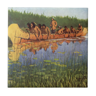 Vintage Pioneers, Great Explorers by Remington Ceramic Tile