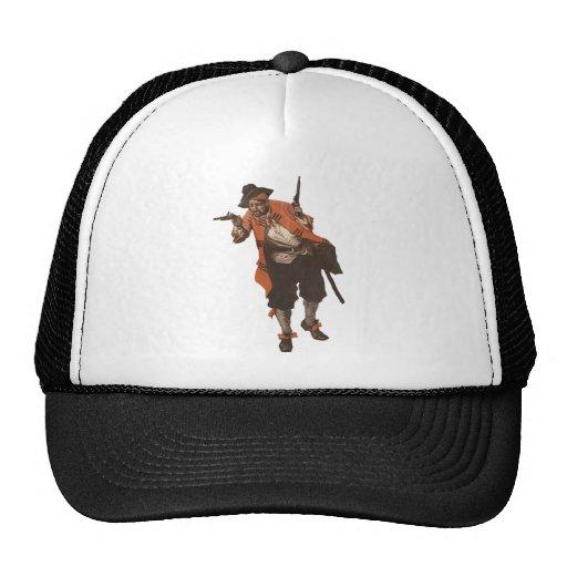 Vintage Pirate Buccaneer Flintlock Gun Trucker Hat