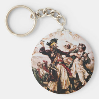 Vintage Pirate Captain Blackbeard Key Ring