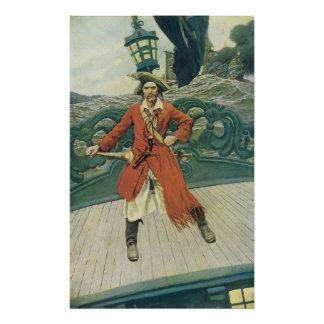 Vintage Pirate, Captain Keitt by Howard Pyle Posters