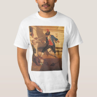 Vintage Pirate Captain, Sword Fight by NC Wyeth T-Shirt