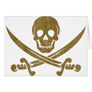 Vintage Pirate Card