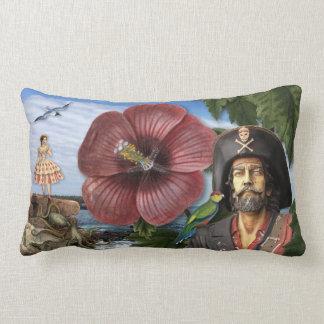 Vintage Pirate Collage Lumbar Cushion