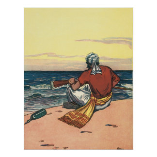 Vintage Pirate Marooned on a Deserted Island Posters