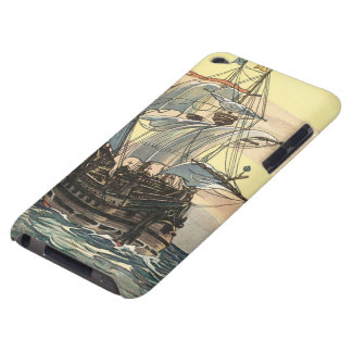 Vintage Pirate Ship, Galleon Sailing on the Ocean iPod Touch Covers