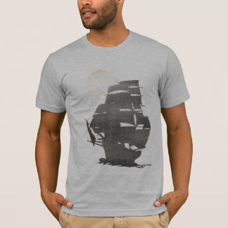 Vintage Pirate Ship in the mist T-Shirt