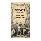 Vintage Pirate Shipwreck Ship Home Brew Beer Label