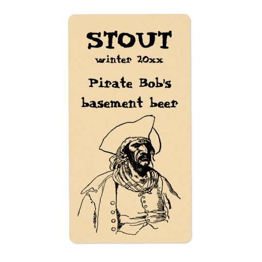 Vintage Pirates, a Buccaneer Sketch by Howard Pyle Shipping Label