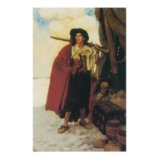 Vintage Pirates Buccaneer was a Picturesque Fellow Posters