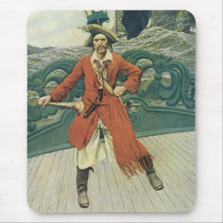 Vintage Pirates, Captain Keitt by Howard Pyle Mouse Pad