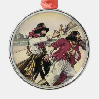 Vintage Pirates, Duel till the Death on the Beach Metal Ornament
