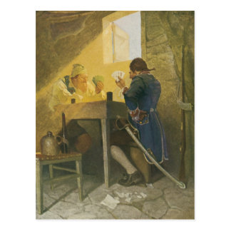 Vintage Pirates Gambling in Prison by NC Wyeth Post Card