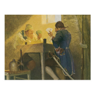 Vintage Pirates Gambling in Prison by NC Wyeth Post Cards