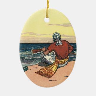 Vintage Pirates, Marooned on a Deserted Island Ceramic Ornament