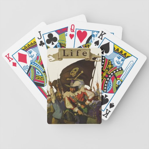 Vintage Pirates of Life 1921 Bicycle Poker Deck