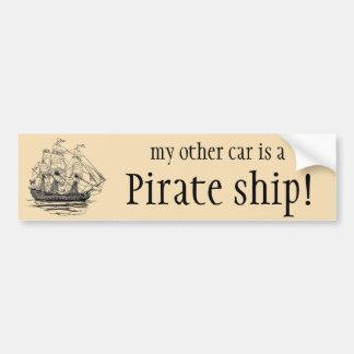 Vintage Pirates, Sketch of a 74 Gun Ship Bumper Sticker