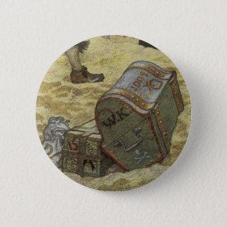 Vintage Pirates, William Kidd Burying Treasure 6 Cm Round Badge