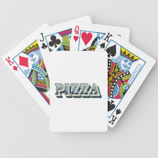 Vintage Pizza for trendy hipsters and foodies Bicycle Playing Cards