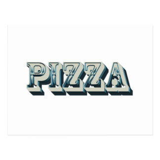 Vintage Pizza for trendy hipsters and foodies Postcard