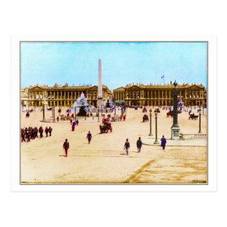 Vintage Place de la Concorde, Paris Postcard