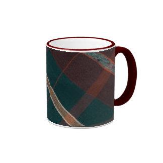 Vintage Plaid Ceramic Mug