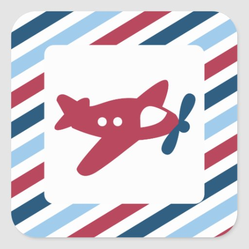 Vintage Plane Airmail Stickers