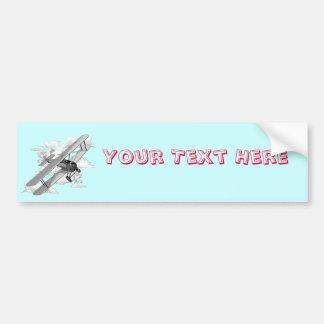 Vintage Plane Bumper Sticker