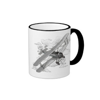 Vintage Plane Ringer Coffee Mug