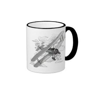 Vintage Plane Ringer Mug
