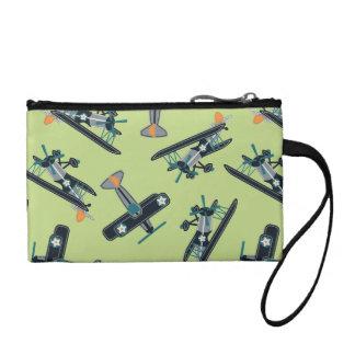 Vintage planes coin purse