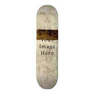 Vintage Plaster Beige Tan Brown Parchment Paper Skate Board