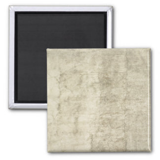 Vintage Plaster or Parchment Background Customized Square Magnet