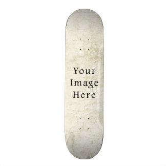 Vintage Plaster White Parchment Paper Background 21.6 Cm Old School Skateboard Deck