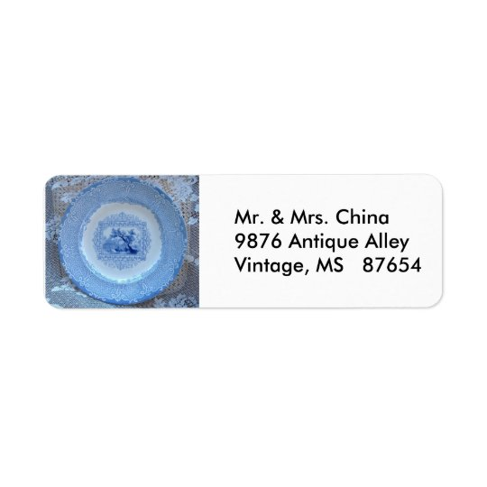 Vintage Plate Return Address Label