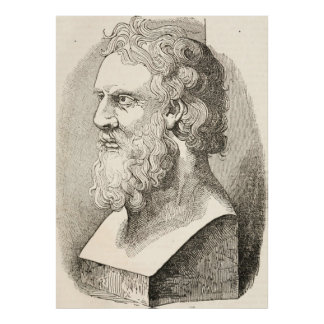 Vintage Plato The Philosopher Illustration Poster