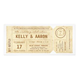 Vintage Playbill Theatre Ticket Wedding Invitation