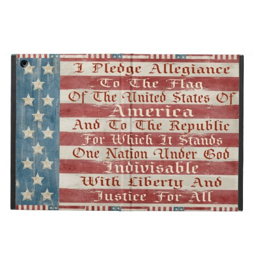 Vintage Pledge Of Allegiance Cover For iPad Air