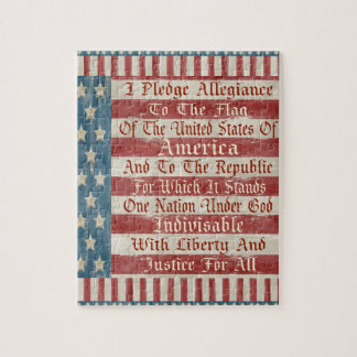 Vintage Pledge of Allegiance Jigsaw Puzzle