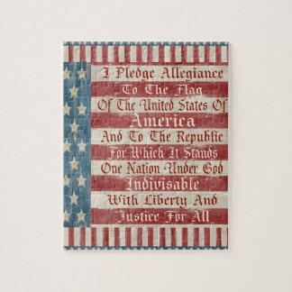 Vintage Pledge of Allegiance Jigsaw Puzzles