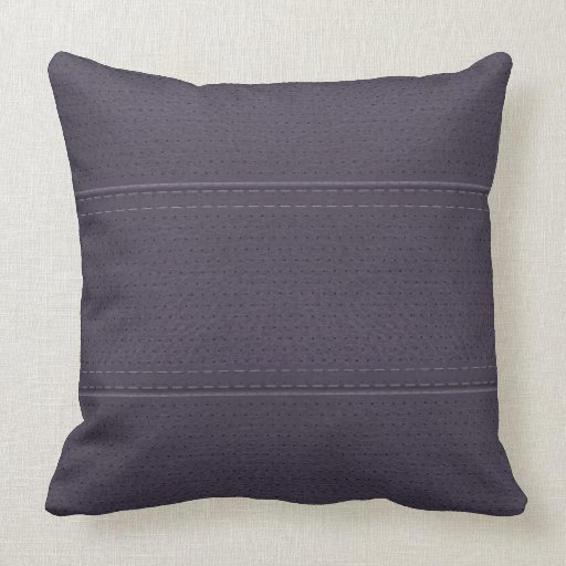 Vintage Plum Purple Worn-Out Faux Leather Look Throw Pillows