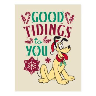 Vintage Pluto | Good Tidings to You Postcard