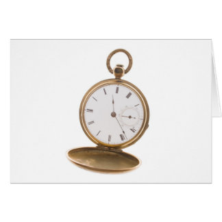 Vintage Pocket Watch Card
