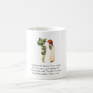 Vintage Poem Brussels Sprout Horseradish Vegetable Coffee Mug
