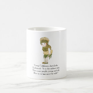 Vintage Poem California Artichoke Vegetable Rhyme Coffee Mug